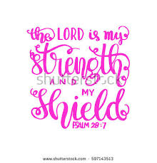 lord my strength my shield bible stock vector 597143513