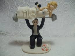 weight lifting cake topper weight lifting groom with on barbells personalized