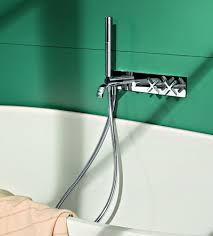 riviera wall mount tub filler u0026 hand shower jack london