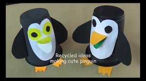 recycled projects how to make pinguin using plastic cup youtube
