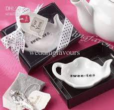 tea bag party favors 2018 dhl swee tea ceramic tea bag caddy wedding favors bridal