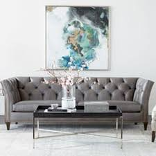 Gray Sofa In Living Room Shop Sofas And Loveseats Leather Couch Ethan Allen
