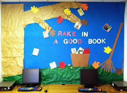 the lion is a bookworm bulletin board rake in a good book