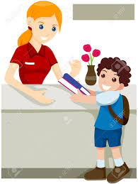 Kid At Desk by At Desk Clipart