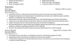 resume for security eliolera com