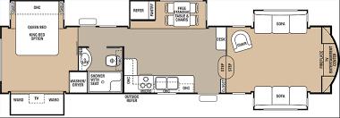 Fleetwood 5th Wheel Floor Plans Cedar Creek Fifth Wheels For Sale