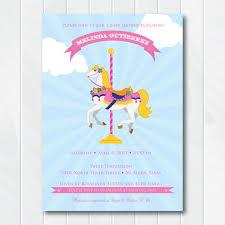 carousel baby shower baby shower invitation pony invitation for pony