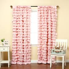 light pink ruffle curtains ivory ruffle blackout curtains curtains inspiringle for home