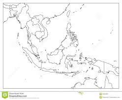 Asia Political Map South East Asia Political Map Black Outline On White Background