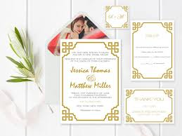 Blank Wedding Invitation Kits Wedding Invitation Suite Templates Gold Vintage Wedding
