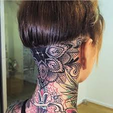 Tattoo Ideas For Back Of Neck 42 Best Animal Back Of Neck Tattoos Images On Pinterest Neck