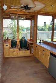 outdoor kitchen screen porch done pic hvy u2014 big green egg