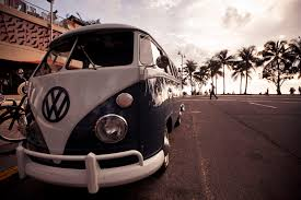 volkswagen van background where does the word