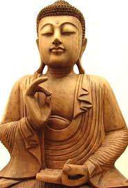 3ft large serene sitting buddha statue carved from solid