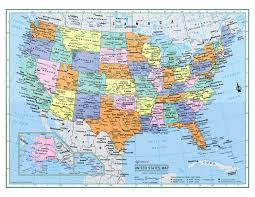 Large World Map Poster by United States Wall Map Usa Poster 22x17 Or