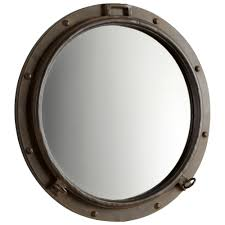 Nautical Bathroom Mirrors by Cyan Design Rustic Bronze Porto Nautical Round Wall Mirror Guest