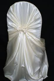 rental chair covers rental chair covers satin universal self tie ivory a particular