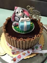 bunny cookies u0026 cream chocolate birthday cake baking language