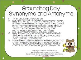 groundhog day cards home sweet speech room groundhog day synonym and antonym cards