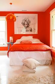 beautiful orange bedroom interior design fascinating interior