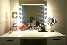 conair lighted vanity mirror conair 7x magnified polished chrome lighted makeup mirror model