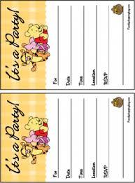 winnie pooh invitations winnie pooh invitations free