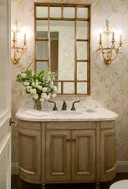 oil rubbed bronze mirror powder room traditional with baseboards