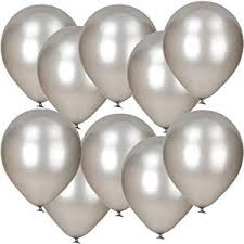 silver balloons 10 pack of 12 silver metallic balloons co uk toys