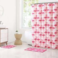 buy flamingo shower curtain shower curtains from bed bath u0026 beyond
