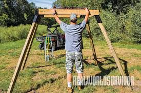 Ground Blind Plans Build Your Own Buck Tower And Hunt With A Friend