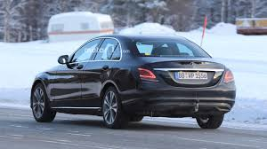 mercedes c class shape mercedes c class facelift flaunting its taillights