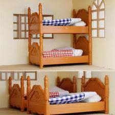 Doll House Bunk Bed Doll House Miniature Plastic Bunk Bed Furniture Set