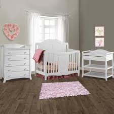 White Changing Tables For Nursery Storkcraft 3 Nursery Set Princess Convertible Crib Aspen