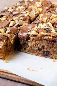 caramel bars recipe with oats brown sugar walnuts and