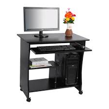 1pc Black Desktop Computer Table Pc Laptop Table Office