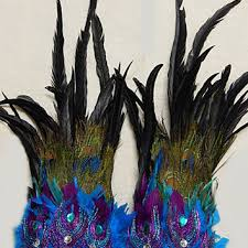 peacock feather leg cuffs unisex from sajeeladesign on etsy