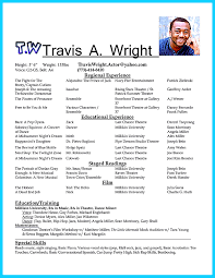 Beginner Resume Template Acting Resume Template Daily The Best Images Collection For Actors
