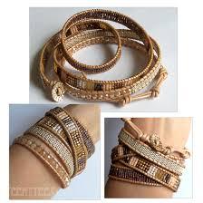 beaded bracelet leather images Bead wrap bracelet leather images jpg
