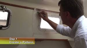 make your own snap on window curtain panels for your boat youtube