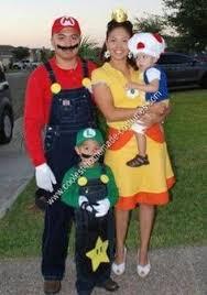 adorable homemade mario bros halloween costumes