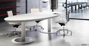 Large Oval Boardroom Table Meeting Tables White Oval Executive Meeting Table Fantoni Uk