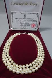 pearl necklace box images Camrose kross jackie kennedy triple strand ivory faux pearl jpg