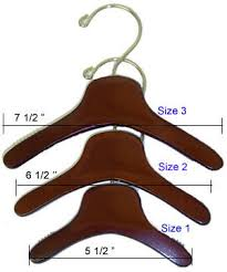 clothes hangers wood fur