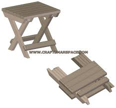 Small Wooden Folding Table Stool Plan