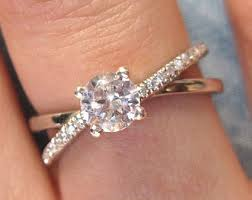 Infinity Wedding Rings by Diamond Infinity Ring Bridal Set Infinity Knot Engagement And