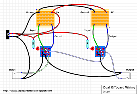 guitar fx layouts offboard wiring