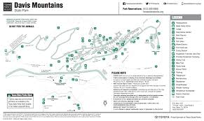 Palo Duro Canyon State Park Map Davis Mountains State Park Fort Davis Tx