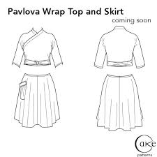 pavlova flats wrap top and skirt cake patterns 3 hours past