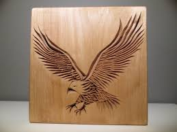 animal wood eagle carved eagle chip carving wood carving wooden