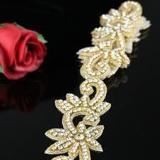 online get cheap yard rhinestone trim applique gold aliexpress 1 yard crystal accessories gold rhinestone
